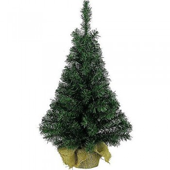 Artificial Green Tree In Jute Bag - 75cm (2.5ft)