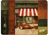 Cafe Du Passage Corkback Traditional Placemats, Set of 6 by Creative Tops
