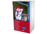 Acrylic Christmas Small Snowman with Broom with 48 LEDs, Ice White konstsmide