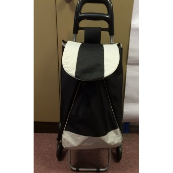 Black 30 Litres Shopping Trolley with stair climber wheels by Paroh