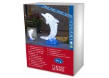 AcrylicChristmas Small Dolphin with 88 LEDs, lights Ice White by Konstsmide