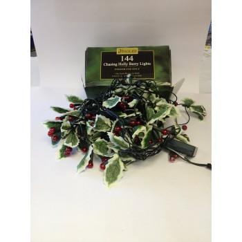 Christmas Indoor 144 led red Holly Berry Lights