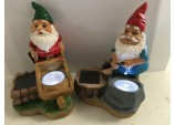 Smart Garden Gnomes Solar Spotlights Set of 2 w axe