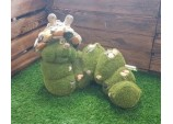 FLOCKED GARDEN ORNAMENT CONNIE THE CATERPILLAR MEDIUM GARDEN DÉCOR ACCESSORIES