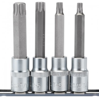 "1/2"" Sq. Dr. Draper TX-STAR® Socket Bit Set (4 Piece)"
