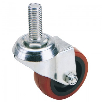 100mm Dia. Swivel Bolt Fixing Polyurethane Wheel - S.W.L. 125Kg