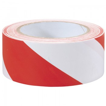 33M x 50mm Red and White Hazard Tape Roll