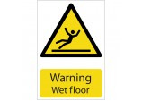 'Warning Wet Floor' Hazard Sign