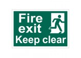 'Fire Exit Keep Clear' Safety Sign