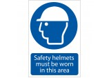'Safety Helmet Must Be Worn' Mandatory Sign