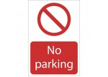 'No Parking' Prohibition Sign
