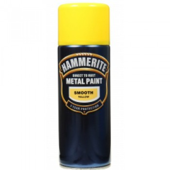 Metal Paint 400ml Aerosol - Smooth Yellow
