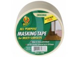 All Purpose Masking Tape - Beige 25mm x 25m Triple Pack
