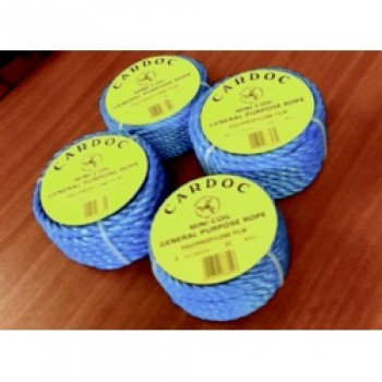 Cardoc Mini Coil Blue Poly Rope - 12x10