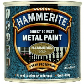 Metal Paint Hammered 250ml - Gold