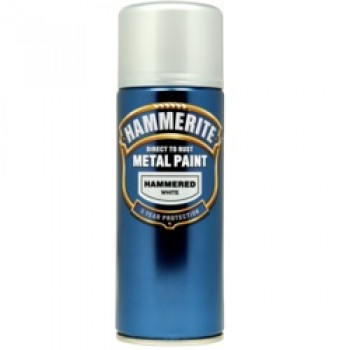 Metal Paint 400ml Aerosol - Hammered White