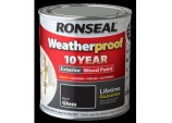 Weatherproof 10 Year Exterior Wood Paint Gloss 750ml - Black