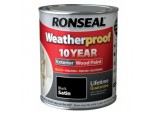 Weatherproof 10 Year Exterior Wood Paint Satin 750ml - Black