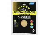 Oakey General Purpose Sandpaper - 280 x 230mm - Assorted (2 x C, 4 x M, 4 x F)