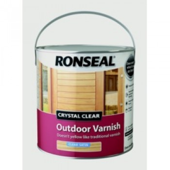 Crystal Clear Outdoor Varnish 2.5L - Satin