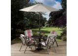Bari 4 Seat Dining Set - With Stacking Chairs