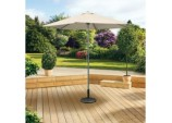 Aluminium Push Up Parasol - 2.5m Beige