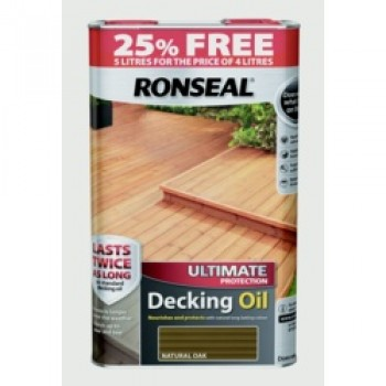 Ultimate Protect Decking Oil 4L + 25% Free - Natural Oak