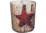Glass Xmas Star 80/73 - Cherry