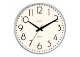 Earl Retro Wall Clock 25cm - Chrome