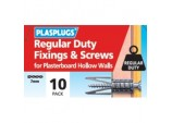 Regular Duty Fixings & Screws - Pack 10