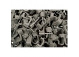 14mm Grey Flat Cable Clips Box 100 - Box 100