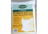 Woven Rubble Sacks (Pack of 5) - Size 35 x 22