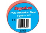 PVC Insulation Tapes Pack 10 - Red 20 Metre