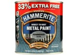 Metal Paint Hammered 750ml + 33% Free - Silver