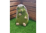 FLOCKED GARDEN ORNAMENT HORACE THE HEDGEHOG LARGE GARDEN HOME DÉCOR ACCESSORIES