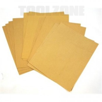 Sandpaper Set -Mixed Grits; 10 Piece;  by Toolzone