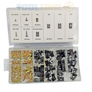 170 pc U / Speed / Spine / Panel CLIPs AND Phillips  by Toolzone
