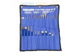 Toolzone Professional 28 Piece Comprehensive Punch and Chisel Set in Canvas Pouch by Toolzone