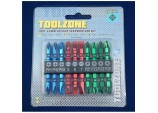 Screwdriver Bit Set, Coloured, Chrome Vanadium, 10 Piece by Toolzone
