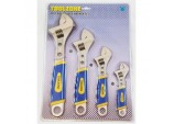 Spanner Wrench Set, Satin Adjustable, 4 piece by Toolzone