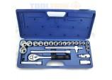 "24 Piece 1/2"" Professional socket set -Chrome Vanadium by Toolzone"