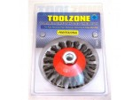 Wire Wheel, Semi Flat, Professional M14 100mm by Toolzone