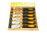 Wood Chisel Set 6 Piece in Case by Toolzone