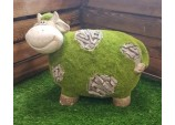 FLOCKED GARDEN ORNAMENT SARA THE COW GARDEN DÉCOR HOME OUTDOOR ACCESSORIES