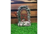 19cms Fairy Folklore Solar Fairy House Door with snail Solar light Resin Garden Ornament