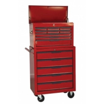 Tool Chest,  14 Drawer Combination ,With Ball Bearing Slides by Hilka