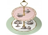 Katie Alice Cupcake Couture 2-Tier Cake Stand in Hat Box by Creative Tops