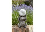 Solar Powered Gazing Frog Decorative Garden Ornament