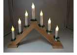Xmas Indoor Wood LED Candle Arch / CANDLELIER/ bridge Battery operated with Timer