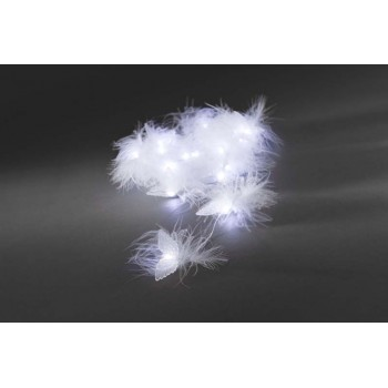 Christmas Decoration - Battery Operated Lightset with Feathers and Plastic Wings